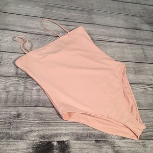 FOREVER 21 DUSTY PINK BATHING SUIT XL
